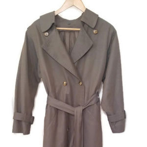 London Fog Double Breasted Long Trench Coat